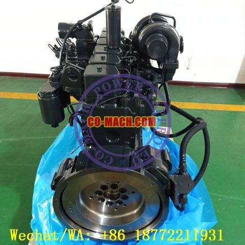 Komatsu PC200-7 Excavator Engine SAA6D102 6D102 Engine Long Block